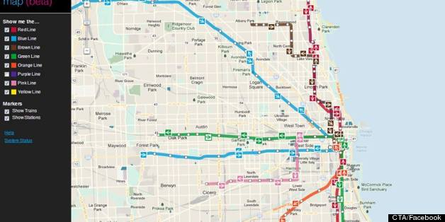 CTA Train Tracker Map Debuts New Chicago Train App Shows Your