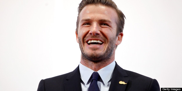 BEIJING, CHINA - MARCH 24:  (CHINA OUT) British football player David Beckham speaks during his visit to Peking University on March 24, 2013 in Beijing, China. David Beckham is on a five-day visit to China at the invitation of the China Football Association as China's first international ambassador. (Photo by ChinaFotoPress/ChinaFotoPress via Getty Images)