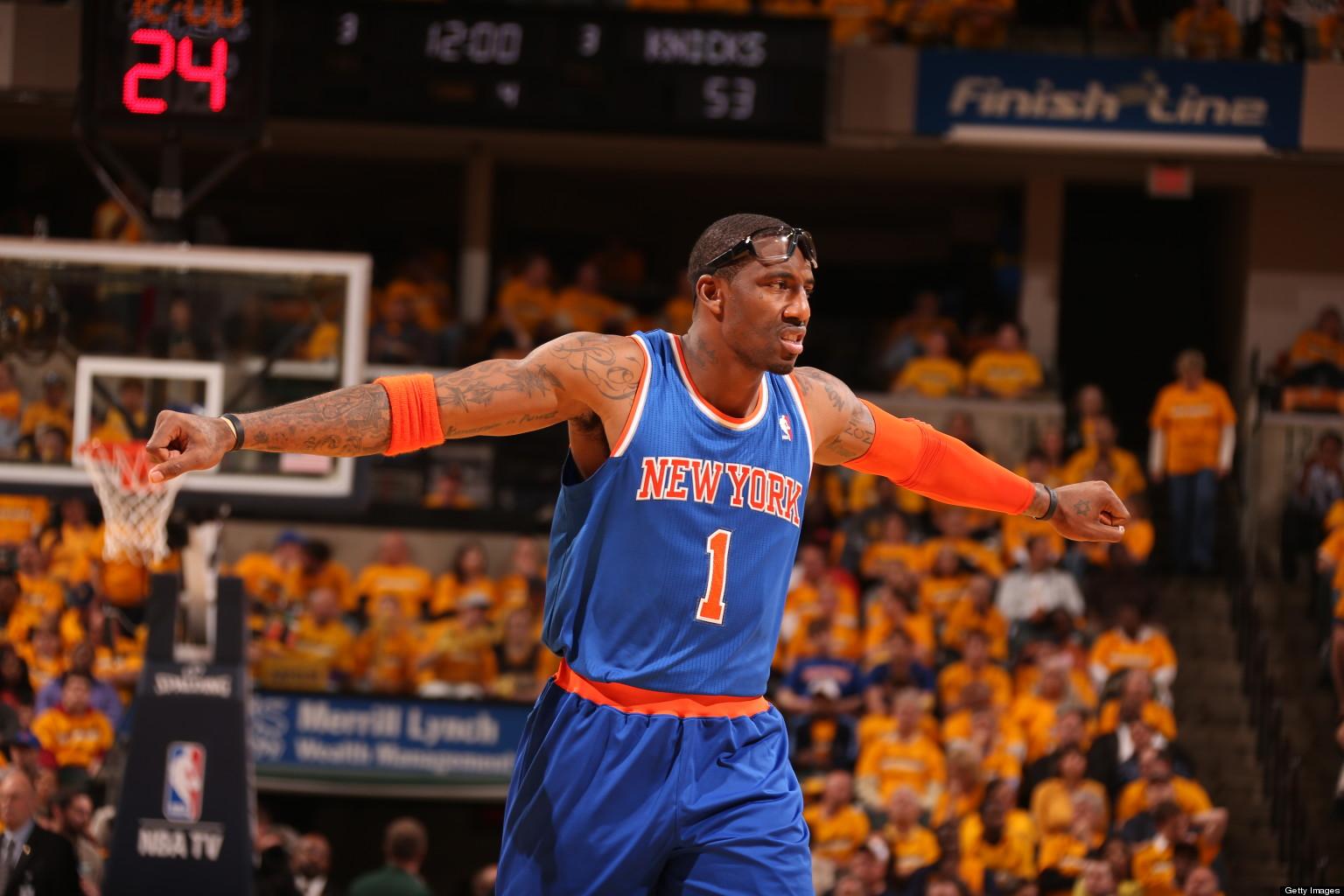 Amar e Stoudemire Wears Yarmulke At Knicks Shootaround PHOTO