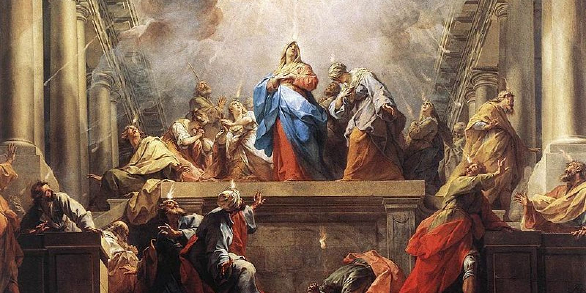 pentecost in art  paintings  stained glass windows
