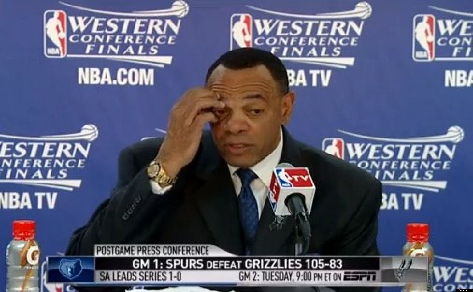 Lionel Hollins For s Jerryd Bayless During Press Conference