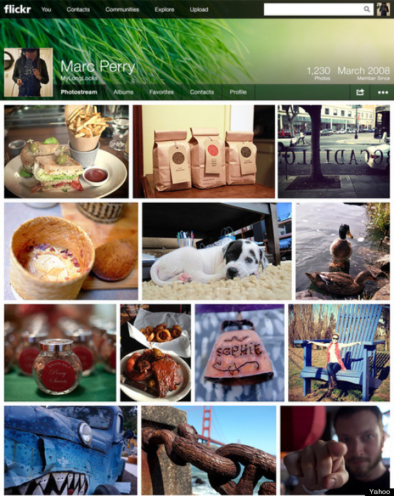 yahoo flickr redesign