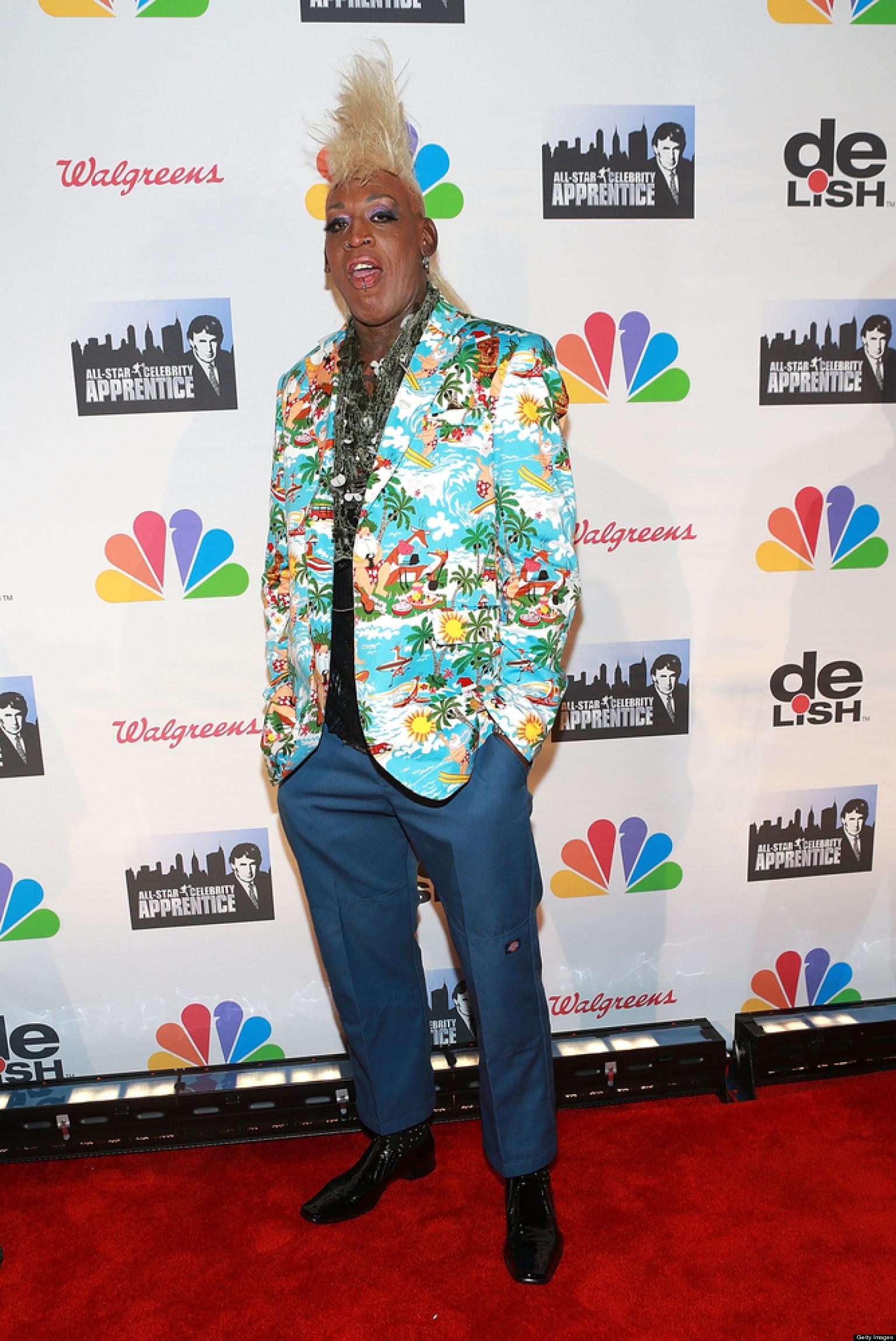 Dennis Rodman S Mohawk Makes Its Debut At All Star