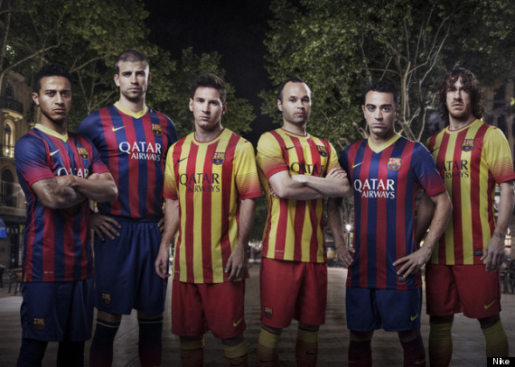 barcelona away kits