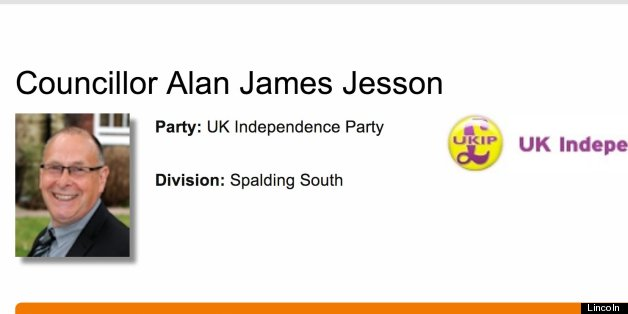 Alan Jesson, was voted in as councillor for Spalding South