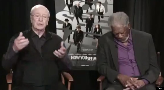 morgan freeman falls asleep