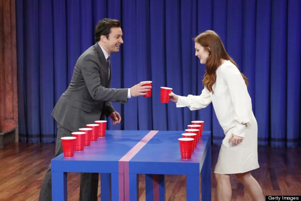 julianne moore beer pong