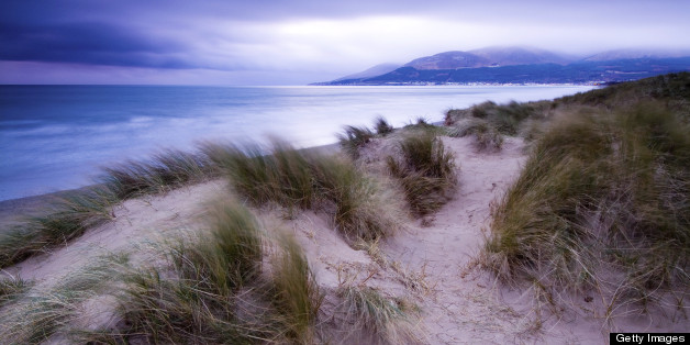 Sand dunes at Murlough. The dunes are thought to be 6,000 years old. A particularly stormy period in the 13th and 14th centuries resulted in a huge movement of sand and as a result dune upon dune was formed to create the unusually high dunes we see today.