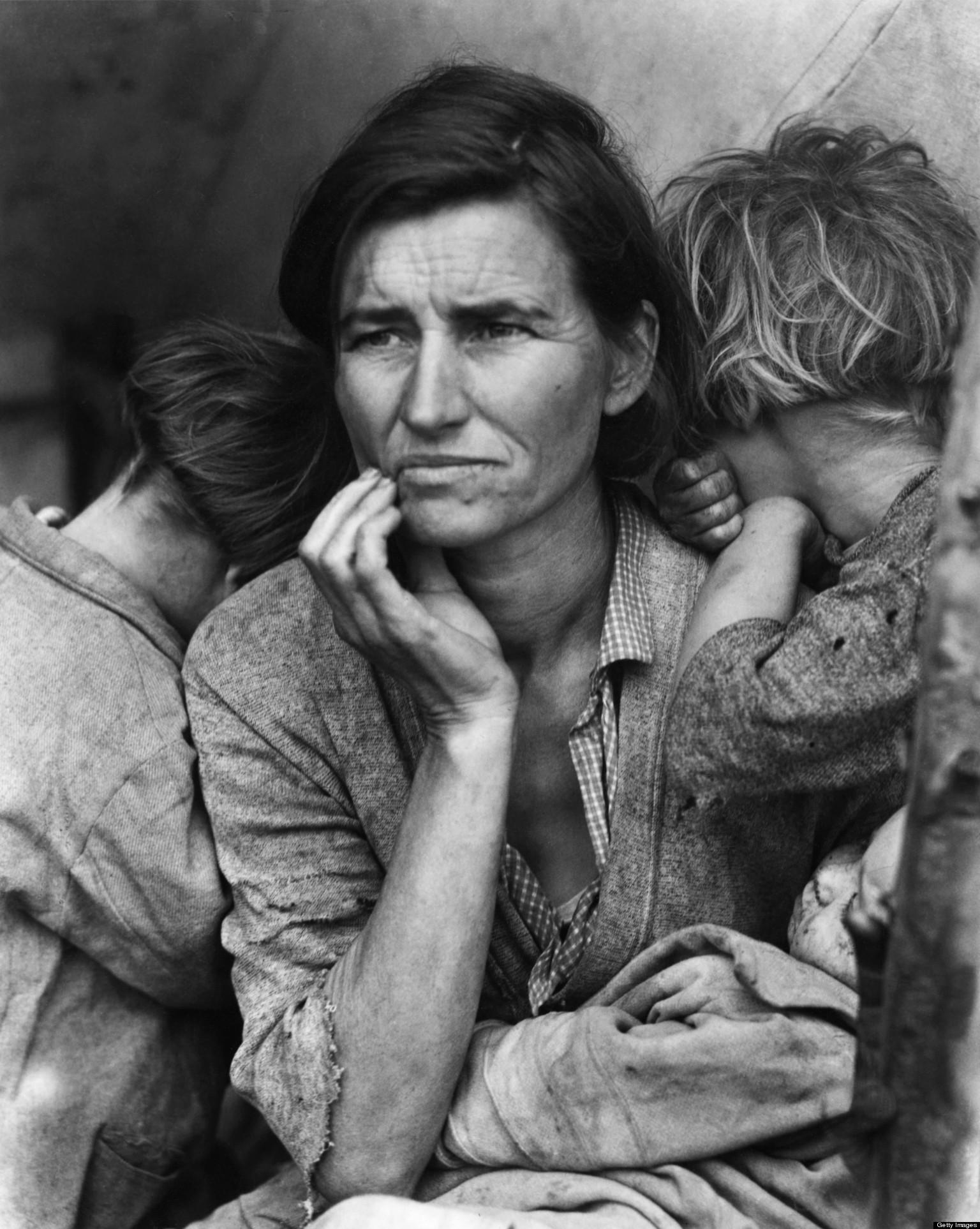 Dorothea Lange Birthday Migrant Mother Photographer Turns 118 PHOTOS