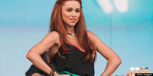 LONDONDERRY, UNITED KINGDOM - MAY 25:  Una Healy of The Saturdays performs on stage on Day 2 of Radio 1's Big Weekend Festival on May 25, 2013 in Londonderry, Northern Ireland. (Photo by Ollie Millington/Redferns via Getty Images)