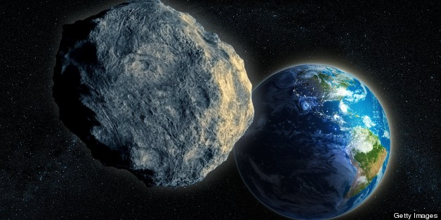 Near-Earth asteroid, computer artwork.