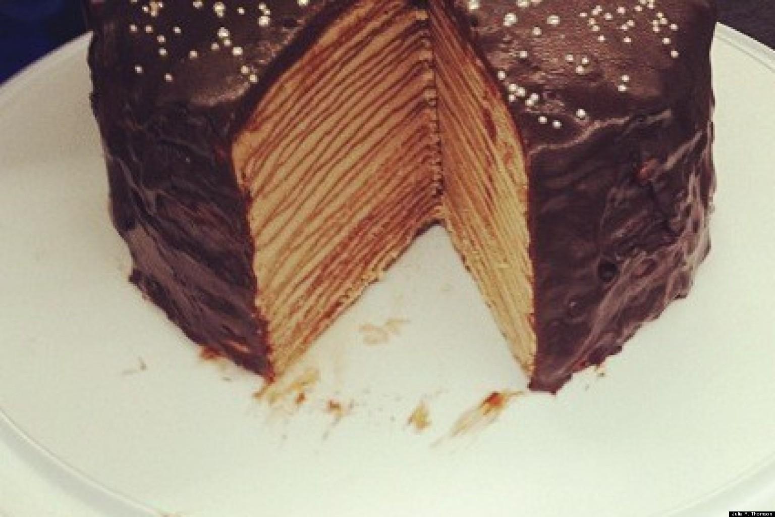 Chocolate Mille Crepe Cake Recipe