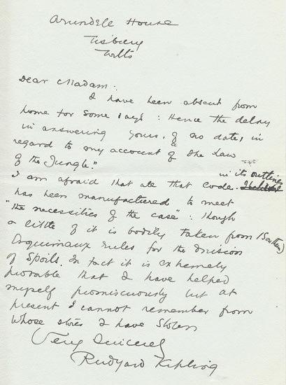 Rudyard Kipling: une partie du
