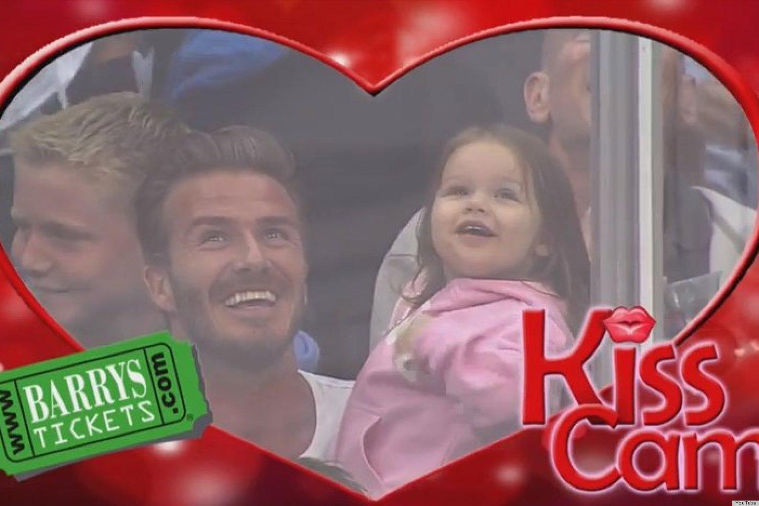 David Beckham Kiss Cam: Watch Harper's Dad Pucker Up | HuffPost