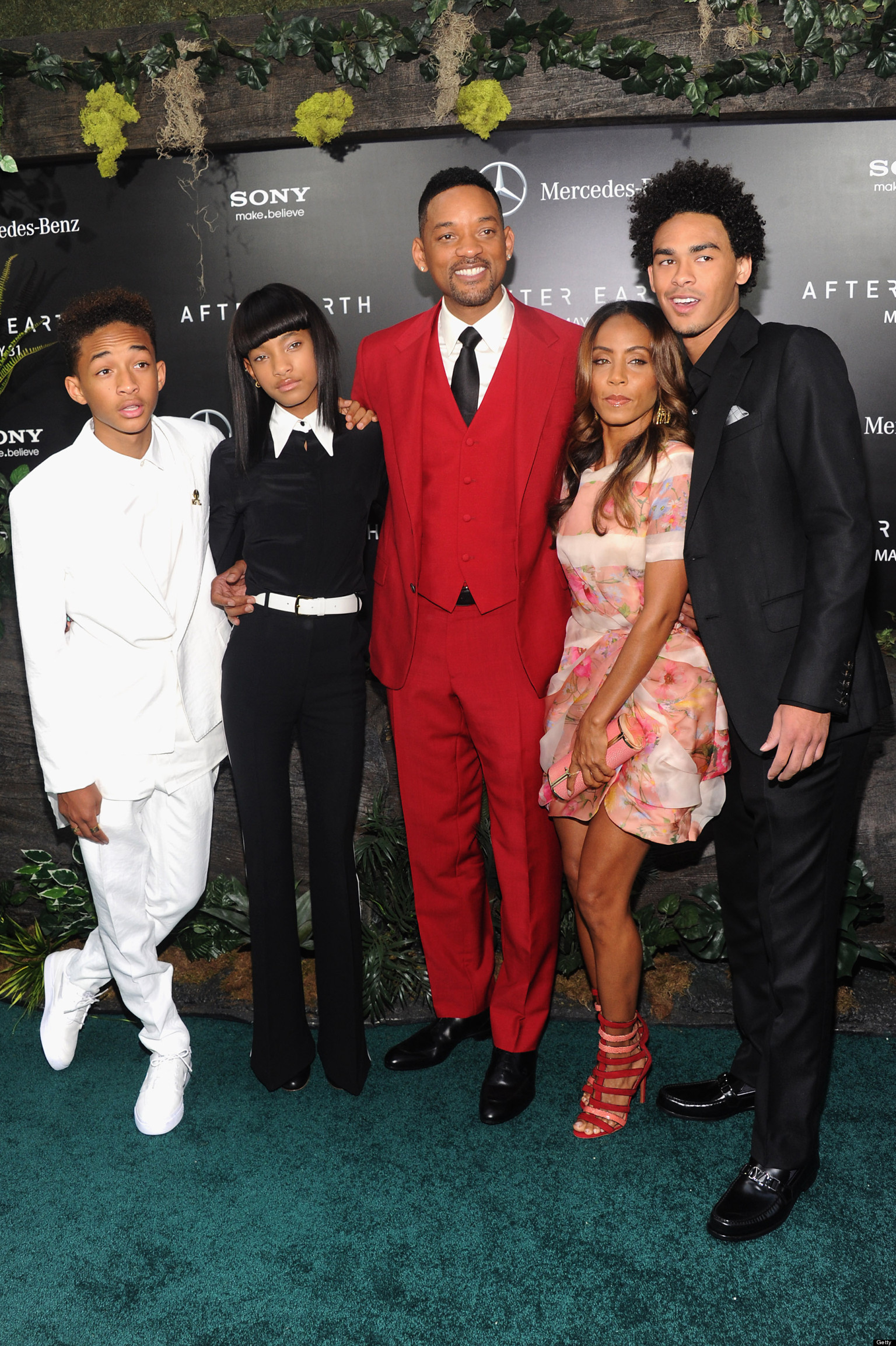 will jaden and the entire smith family step out in style