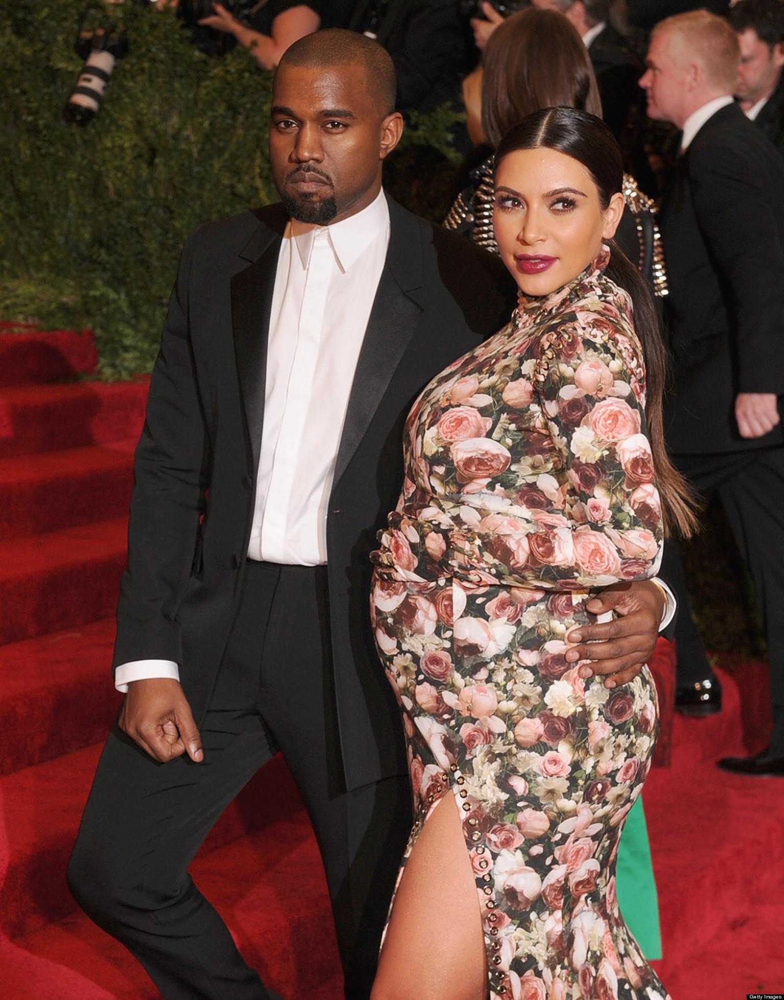 Kim Kardashian Celebrates Baby Shower With Kanye West By Her Side