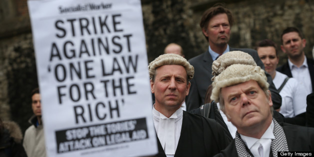Lawyers at a demonstration in London in support of Legal Aid in May 2013