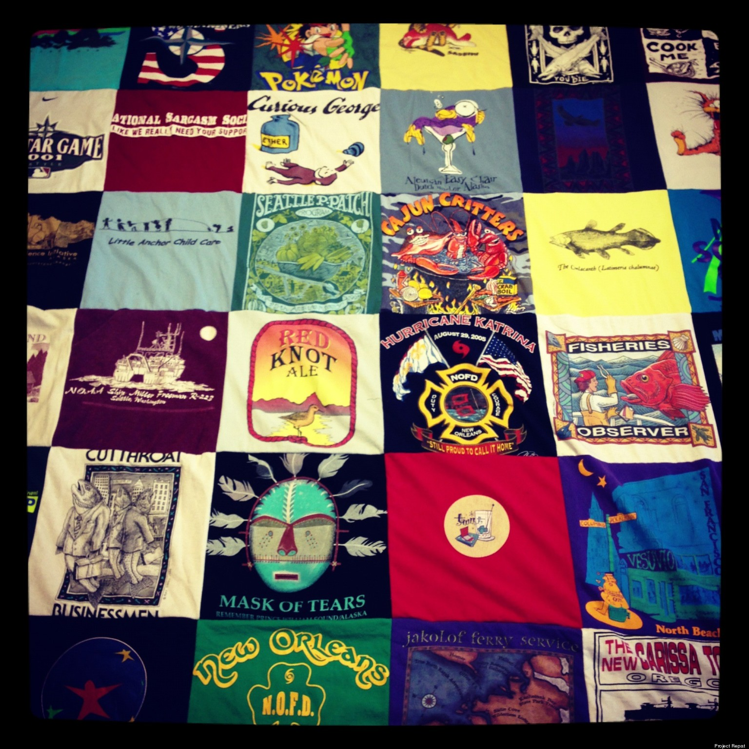 Project Repat Recycles Old T-Shirts Into Blankets | HuffPost : repat quilts - Adamdwight.com