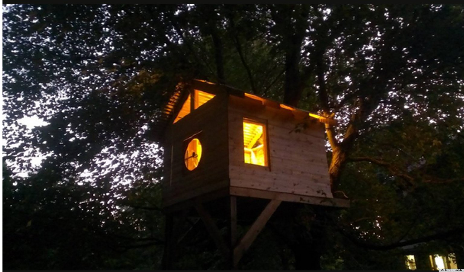 Family Builds Amazing Treehouse For Less Than 300 PHOTOS HuffPost