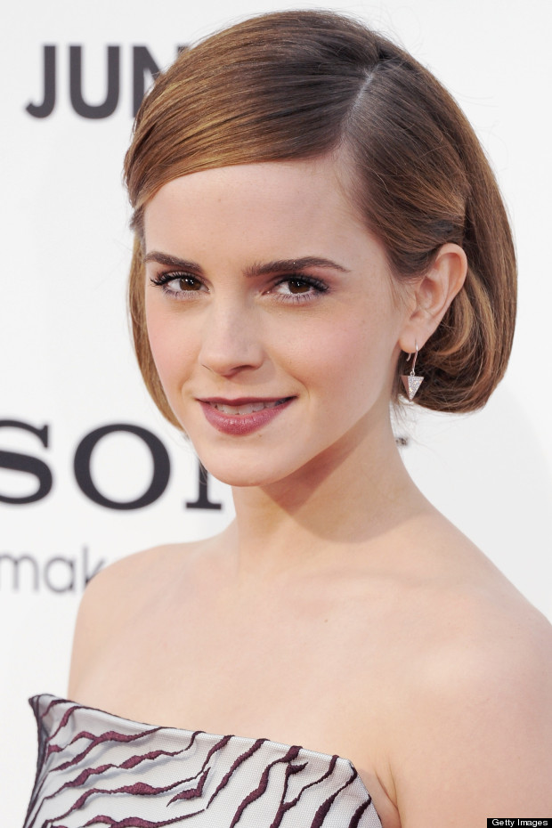 Emma Watson Debuts Bouffant Bob Hairstyle At This Is The End