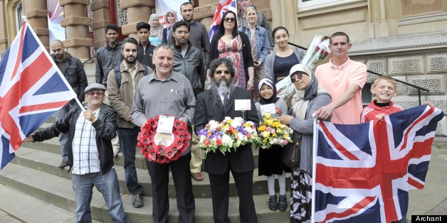 Muslims marched alongside the EDL
