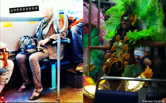 metro personnes bizarres