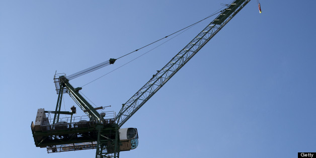 The man fell from the crane onto the motorway (file photo)