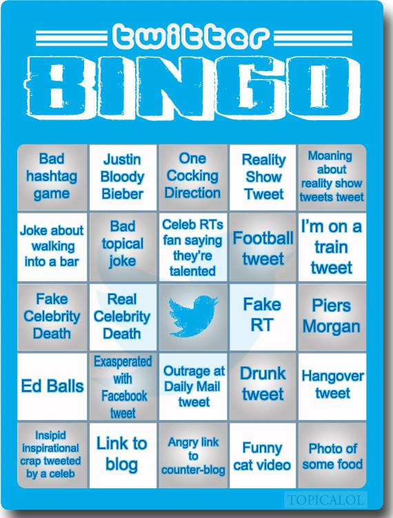 twitter bingo card