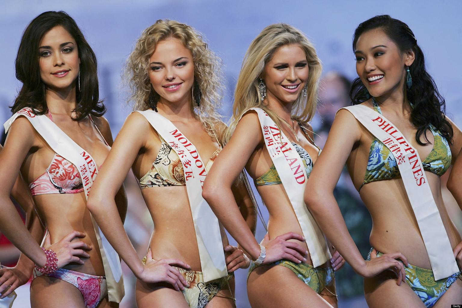 Ms bikini world contest charming answer