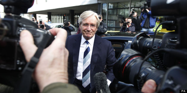 Coronation Street actor Bill Roache arrives at Preston Magistrates' Court where he is accused of raping a 15-year-old girl.