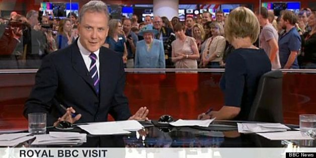 The Queen photobombed the news broadcast