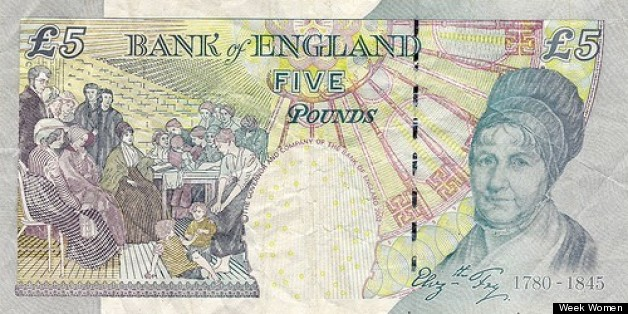 Elizabeth Fry is only woman featured on British banknotes other than the Queen