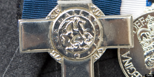 A Closeup Of The George Cross Medal At The Victoria Cross And George Cross Association Reunion At St Martin-In-The-Field, London. (Photo by Mark Cuthbert/UK Press via Getty Images)