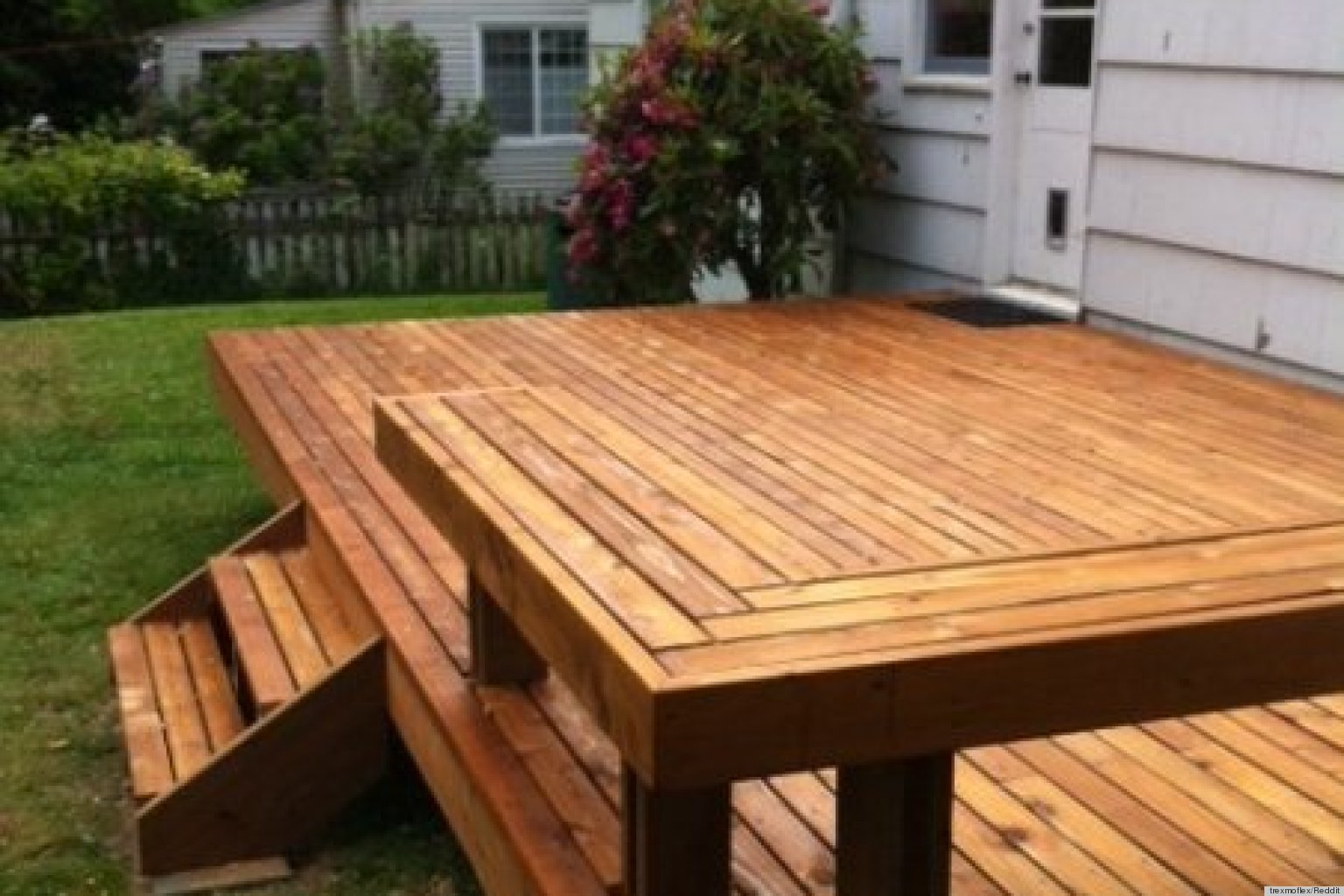 building a deck is how one couple initiated their new home photos