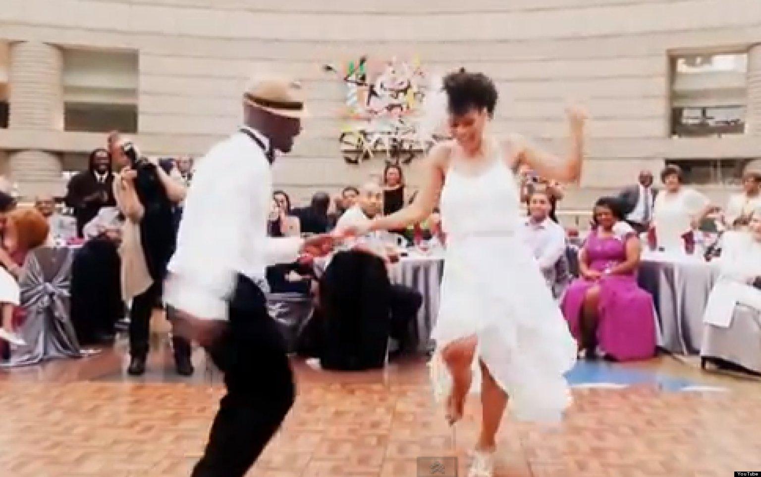 Wedding Dance Newlyweds Perform Amazing Medley Video Huffpost
