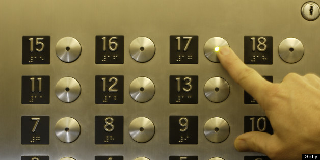 File image: The lift fell four floors in a block of flats in London