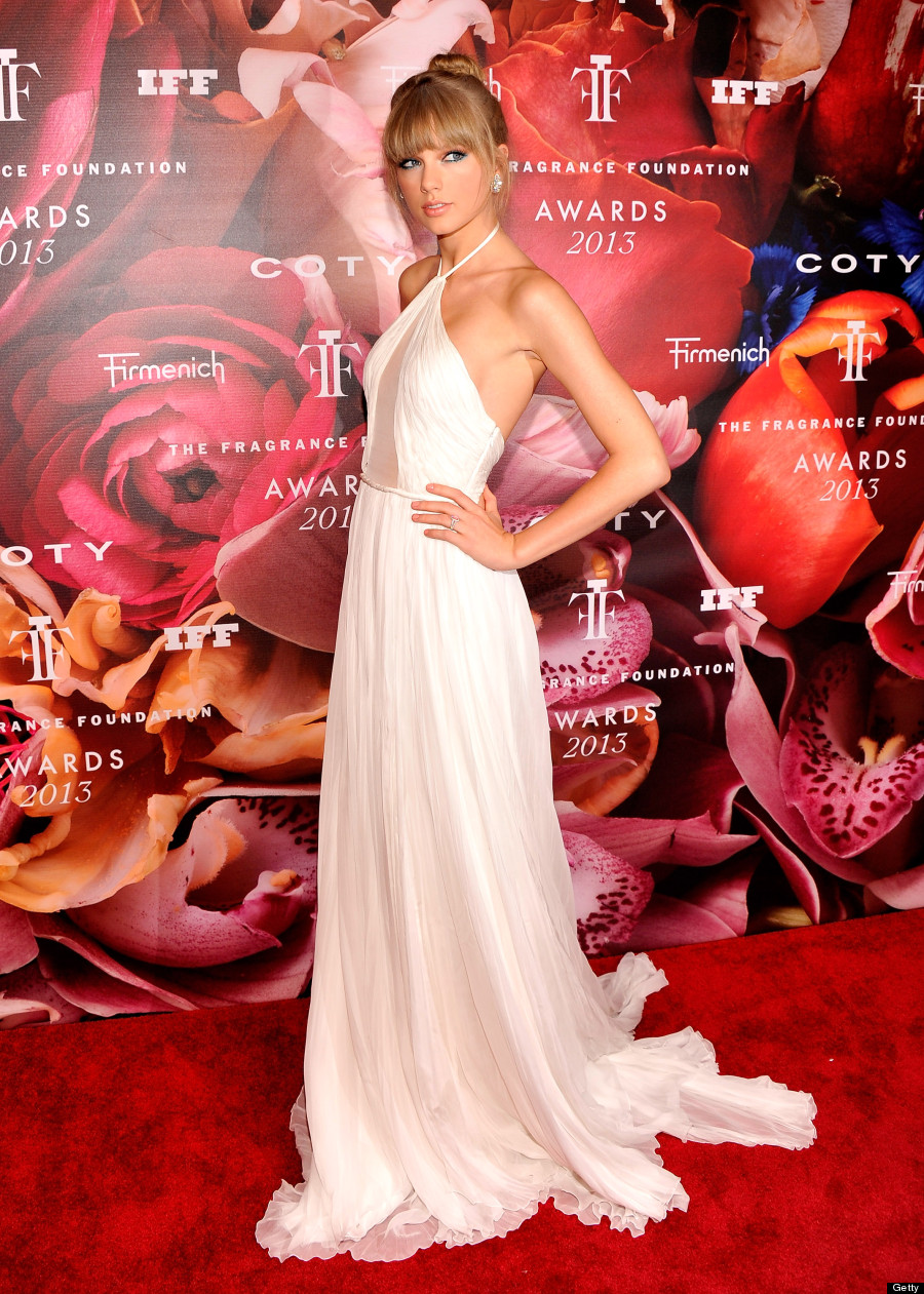 Taylor Swift\'s White Gown Looks Familiar: Katie Holmes Wore Similar ...