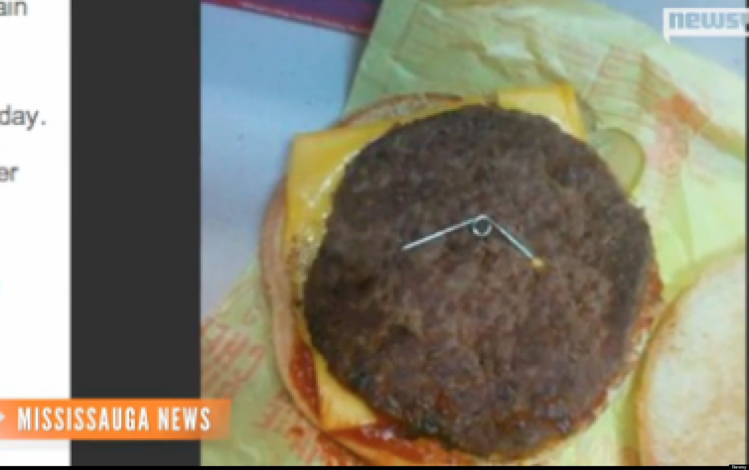 Sharp Object Allegedly Found In Canadian Mcdonald S
