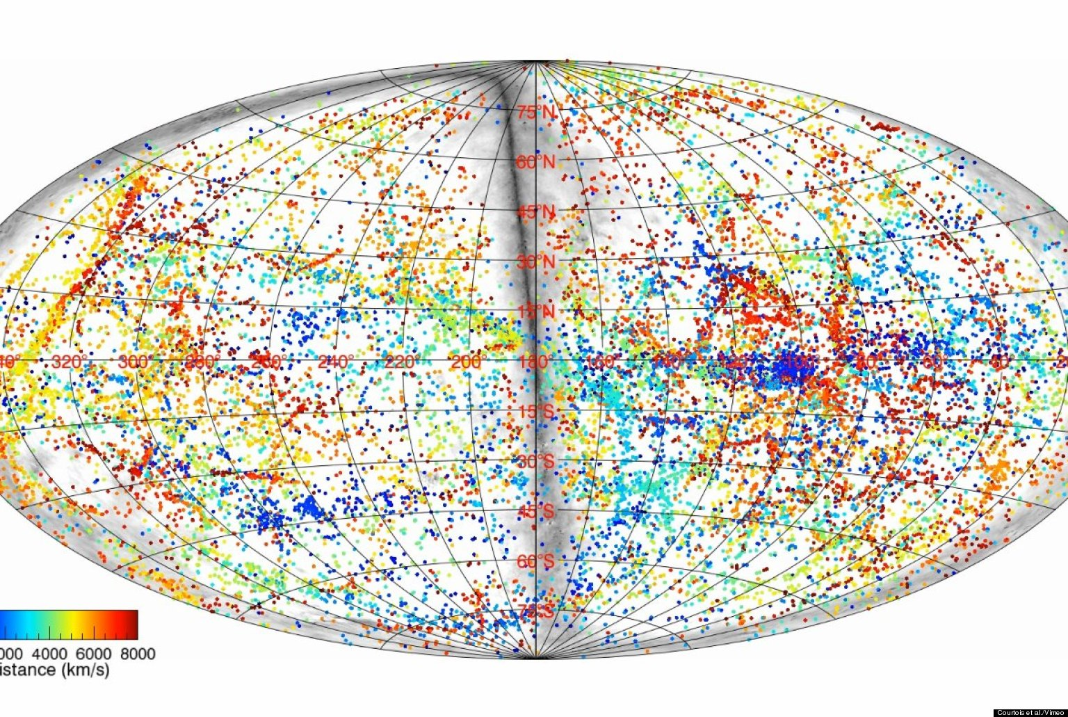 3D Map Of Universe Shows Positions Of Known Galaxies In