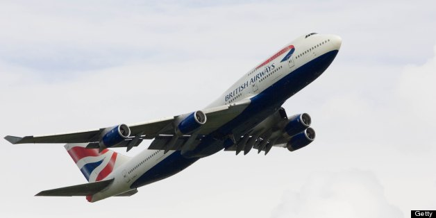 GREAT BRITAIN - JUNE 21:  British Airways Jumbo Jet flying away from Heathrow, London, United Kingdom  (Photo by Tim Graham/Getty Images)
