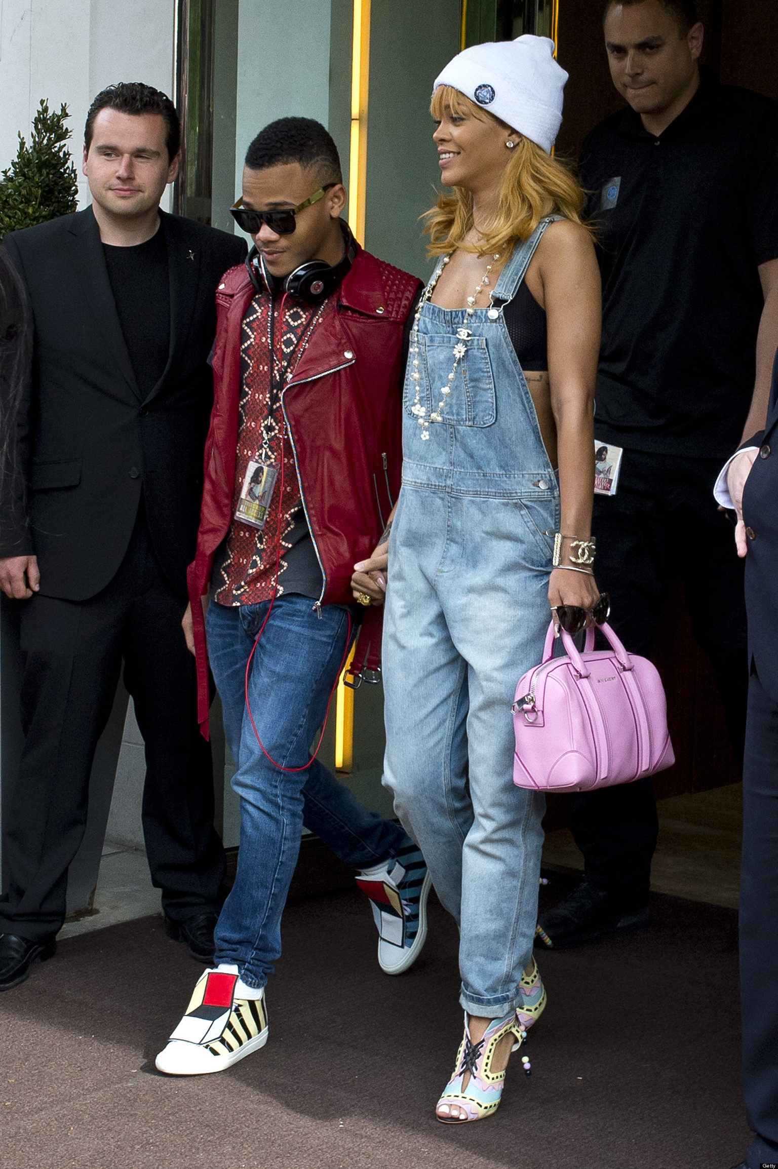 Rihanna And Her Brother Hold Hands Get To Know Rajad Fenty Photo