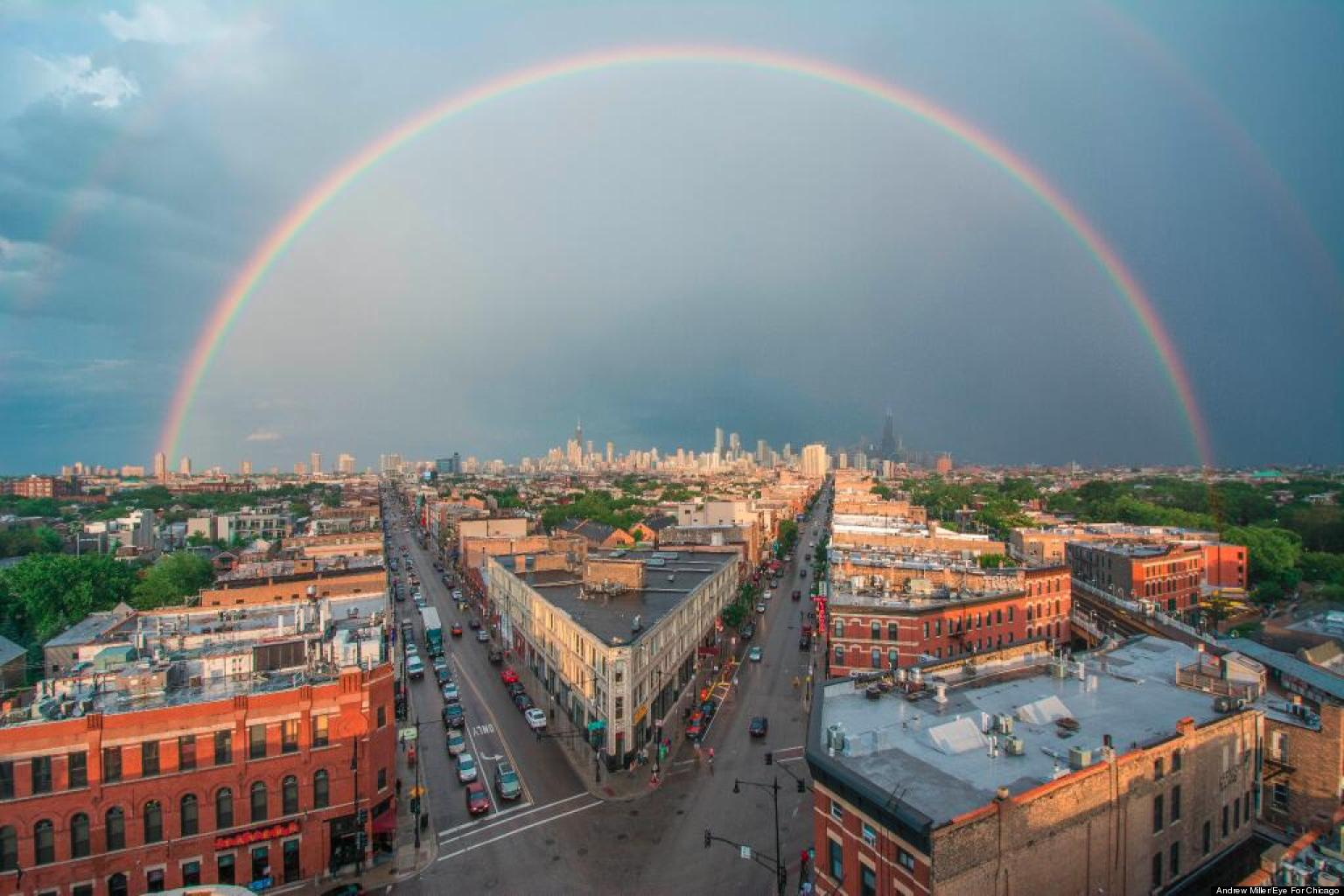 double rainbow chicago photographer captures amazing shot from