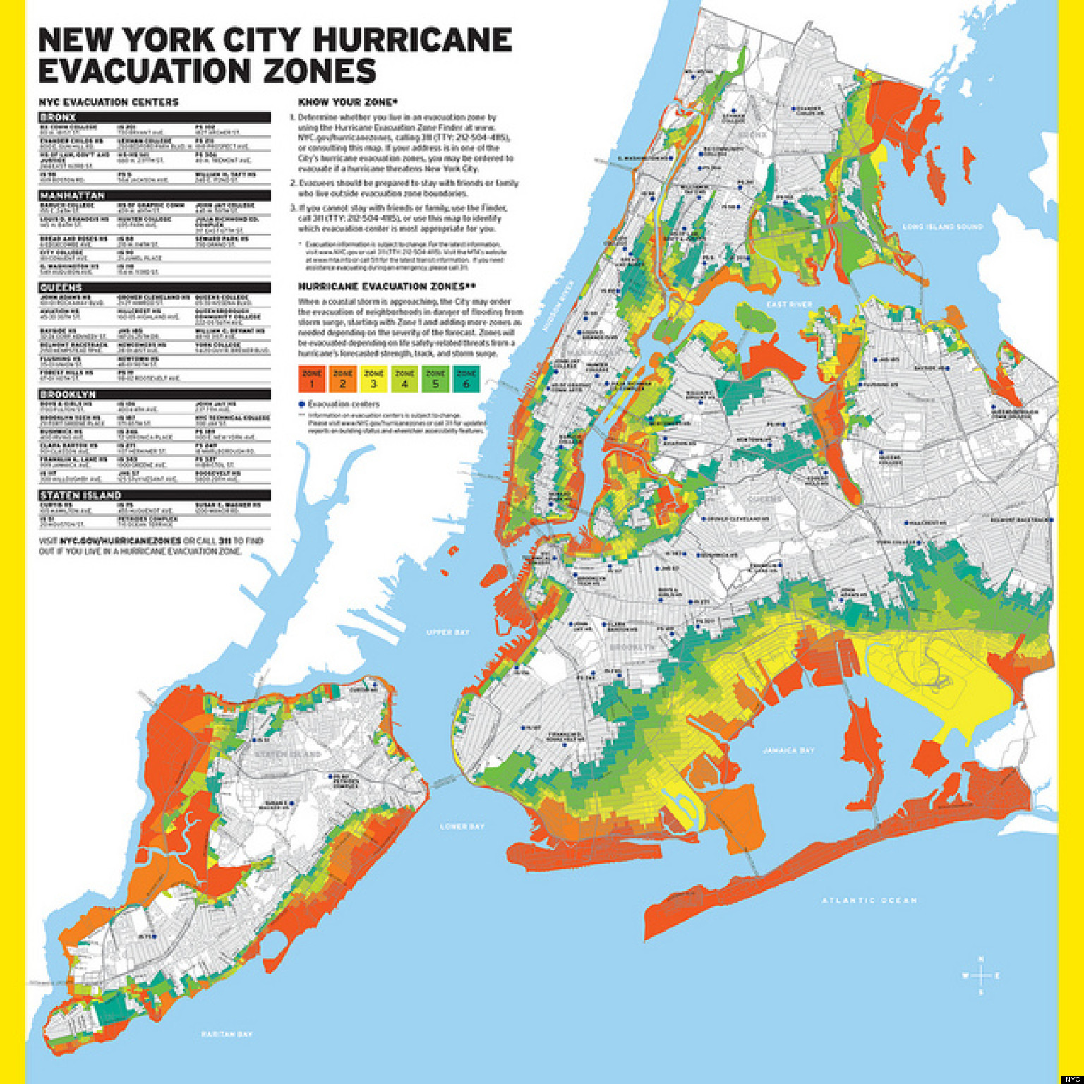 Nyc Hurricane Evacuation Zones Map Updated Months After