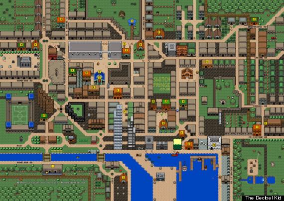 Ipswich ReImagined As Giant Zelda Map For Switch Fringe Festival