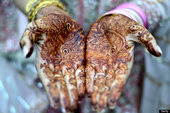 indian henna marriage