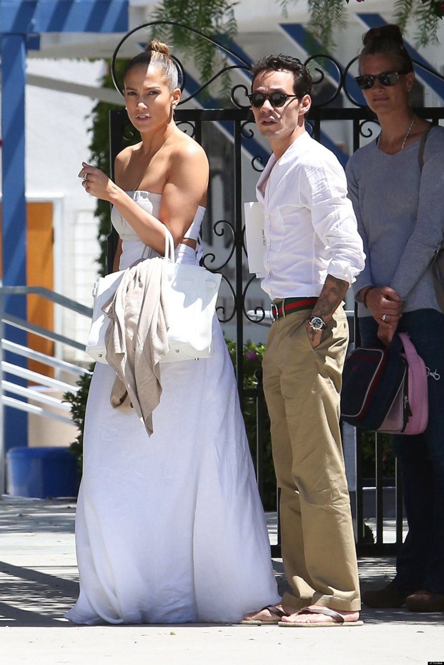 Jennifer Lopez Dons Wedding-Like Dress For Reunion With Ex Marc ...