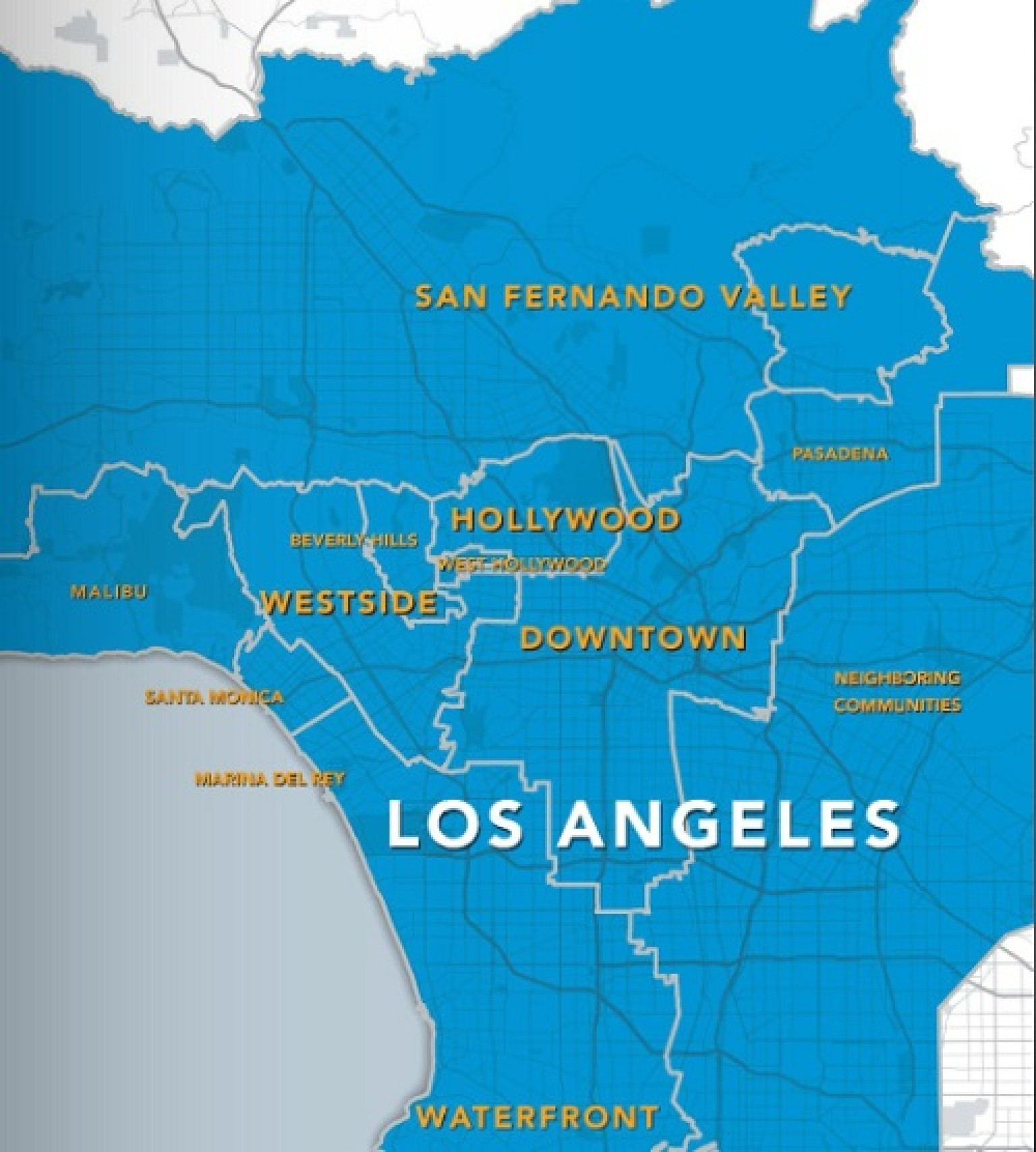 Bad Areas Of Los Angeles Map.In Flight Magazine Features Worst Ever Map Of Los Angeles Bad Map