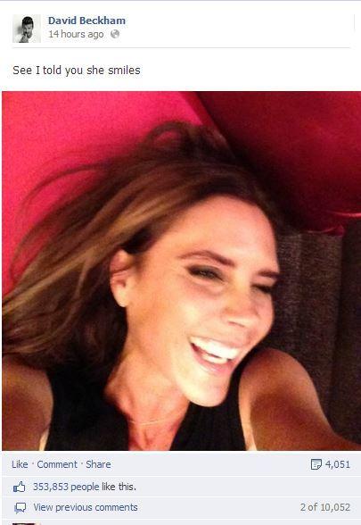 victoria beckham sourire