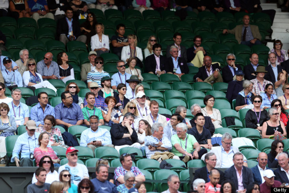 wimbledon empty seats