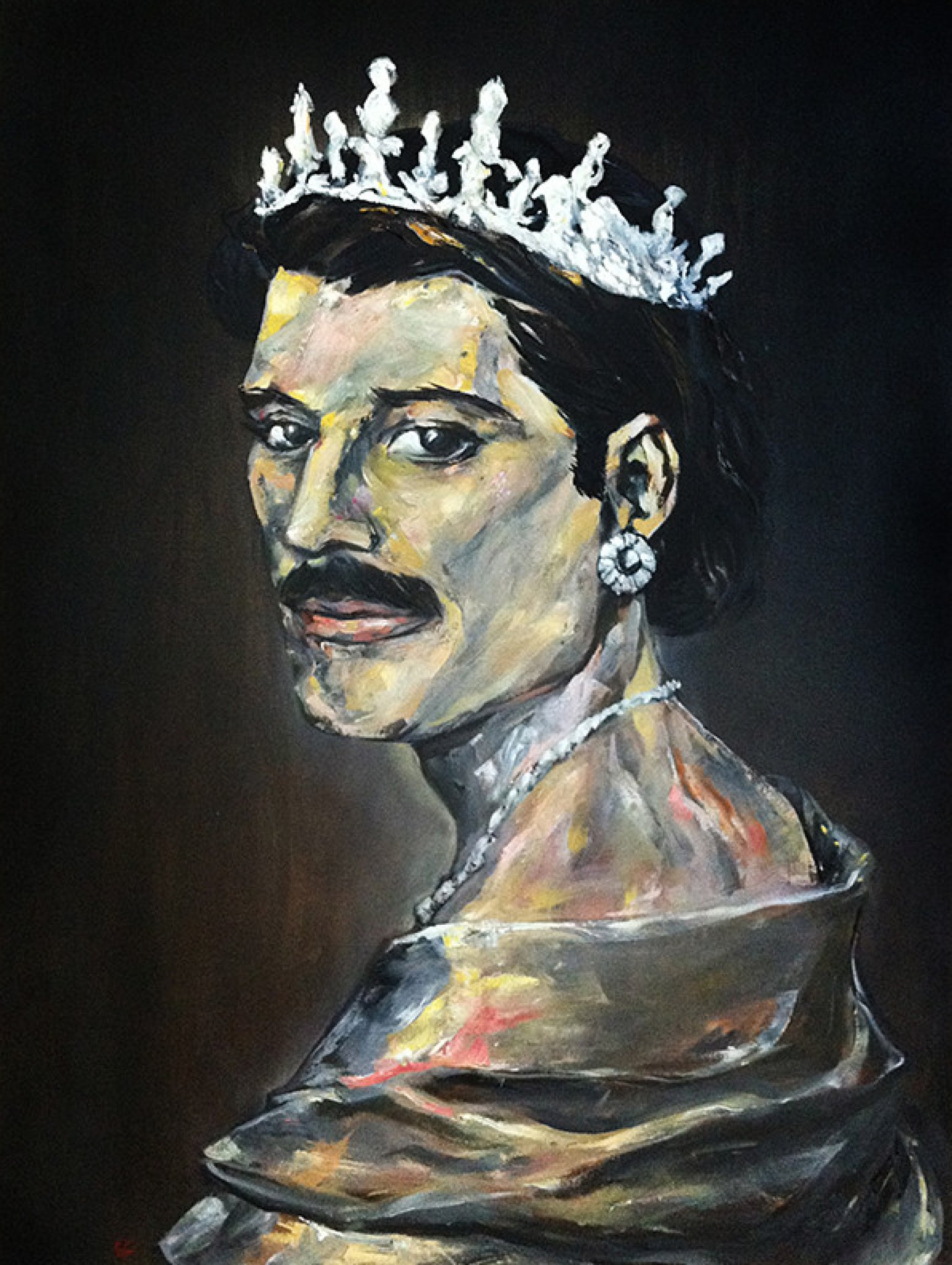 freddie mercury amp queens on canvases photos huffpost
